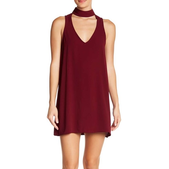 Show Me Your MuMu Dresses & Skirts - show me your mumu // burgundy choker v-back mini